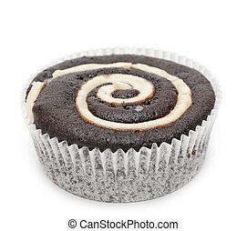 Mini cupcake isolated on white background