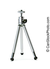 Mini desktop tripod isolated on white background