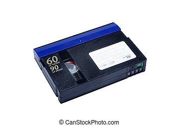Mini DV cassette isolated on white background.