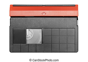 Mini DV Cassette - Top view on a mini dv cassette. File ...