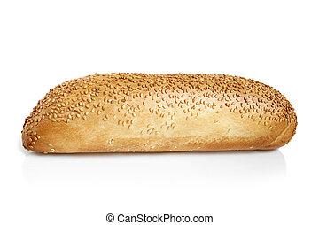 Mini French bread baguette with sesame seeds