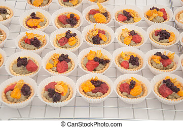 mini, frutta, torte
