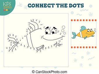 Mini Games - Connect the dots kids game vector illustration...