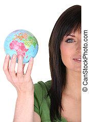 mini, globe, tenue femme