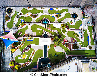 Mini golf course aerial view