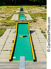 Mini Golf Field Green