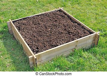mini, grønsag have