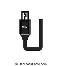 Mini HDMI Adapter Black icon