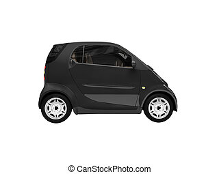Mini isolated black car side view