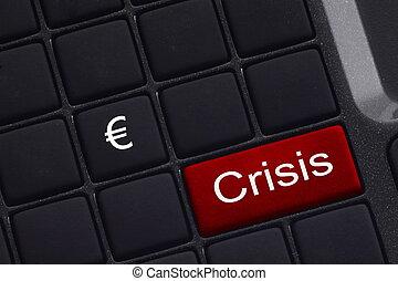 mini keyboard with button saying Crisis