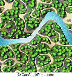 Mini landscape seamless generated background