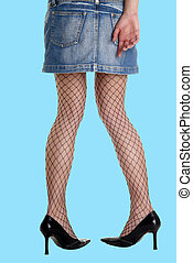 mini leg stocking high - woman leg net stockings high heels...