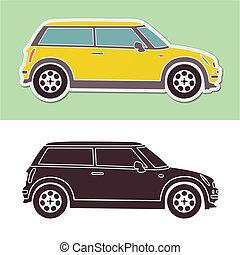 mini, mode, kluges auto