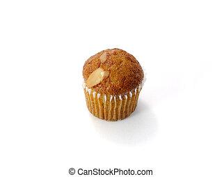 Mini Muffin cake on white background.