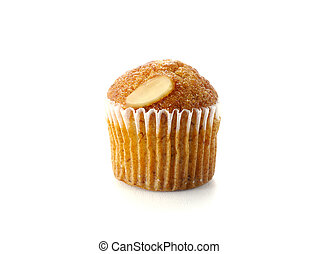 Mini Muffin cake on white background.