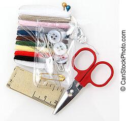 Mini Repair Kit - Sewing repair kit with scissors, thread,...