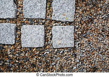 Mini rock background in japanese garden
