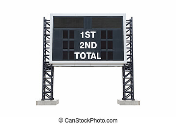 Mini scoreboard stadium. with clipping path