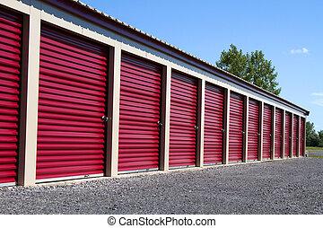 Mini Self Storage Rental Units - A row of mini rental units...
