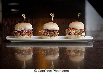 Mini Slider Sandwiches - Slide sandwiches of pulled pork or...