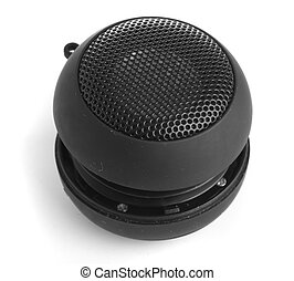 mini speaker isolated on a white background