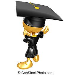 mini, sujeito, original, graduado