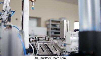 mini, usine, équipement, atelier, mécanique, travaux
