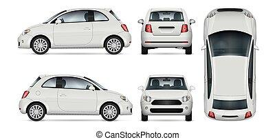mini, vecteur, illustration., voiture