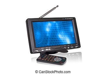 Mini Wide LCD television - A mini portable LCD TV (16:9) -...