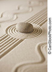 Mini zen garden - Close-up of a miniature rock garden