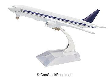 miniatur, modell, gewerblich, düsenverkehrsflugzeug