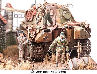 """miniatura, andgerman, zbiornik, wojsko, """"panther"""""""