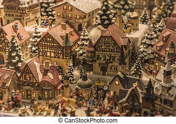miniatura, austríaco, aldea