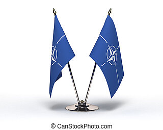 miniatura, bandera, nato(isolated)