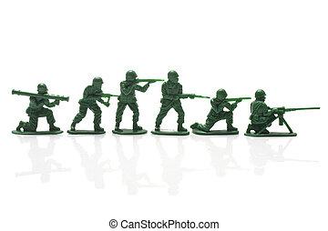 miniatura, soldados del juguete