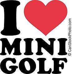 miniature, amour, golf