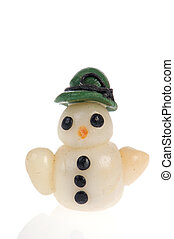 miniature, bonhomme de neige