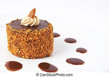 Miniature chocolate cake