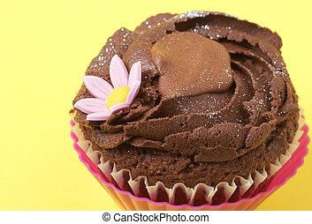 Miniature chocolate cupcake