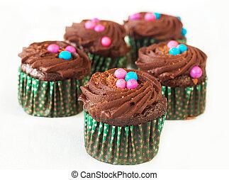 Miniature chocolate cupcakes