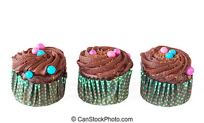 Miniature chocolate cupcakes