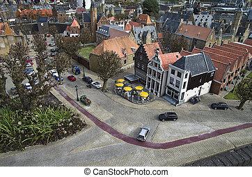 Miniature city Madurodam. The Hague, Netherlands. - ...