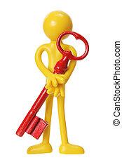 Miniature Figure with Key
