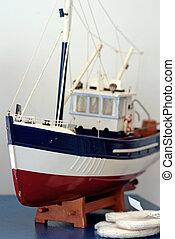 Miniature fishing boat
