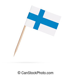 Miniature Flag Finland. Isolated on white background