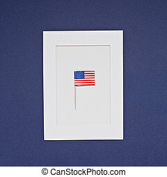 Greeting card for celebration of President's Day in America