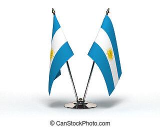 Miniature Flag of Argentina (Isolated)