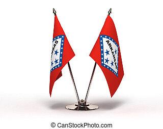 Miniature Flag of Arkansas (Isolated)