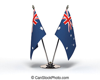 Miniature Flag of Australia (Isolated with clipping path)