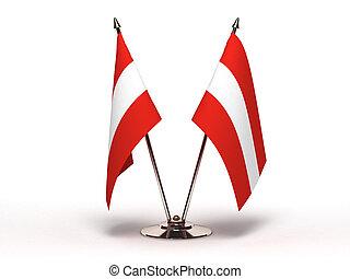 Miniature Flag of Austria (Isolated)